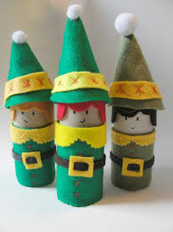 Christmas Elf Craft  Made From Toilet Paper Rolls  Toilet Paper Christmas Crafts Made With Toilet Paper Rolls