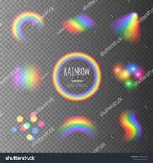 Who Owns Rainbow Light Vector Collection Transparent Colorful Rainbow Light