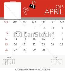 Free Downloadable Monthly Calendar 2015 2015 Calendar Monthly Calendar Template For April Vector Illus