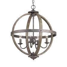 new progress lighting keowee collection 4 light artisan iron orb chandelier