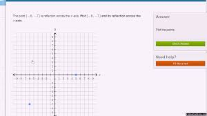 Reflecting Points In The Coordinate Plane Practice Khan Academy