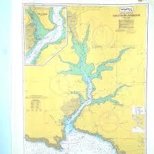 Salcombe Harbour Chart Sospiffy Salcombe Harbour Admiralty Chart Tea Towel Tea