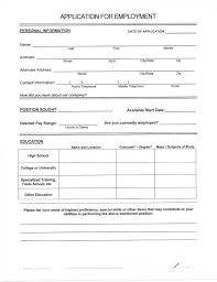 Resume Forms To Fill Out Resume For Study