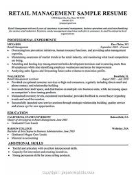 Simple Hardware Store Manager Resume Retail Store Resume Example