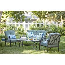 outdoor patio furniture awesome garden treasures cascade creek 4 piece conversation set