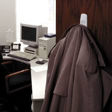 office coat hook. Easy Way To Hang A Coat On The Back Of An Office Door With Command™ Hook