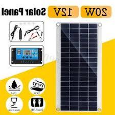 <b>20W 12V</b>/5V Dual USB DC Battery <b>Solar Panel</b>+Controller Kit Set ...