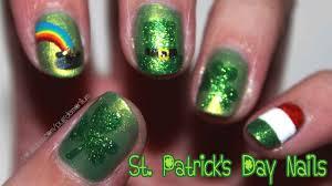 Tutorial: St. Patrick's Day Nail Art - YouTube