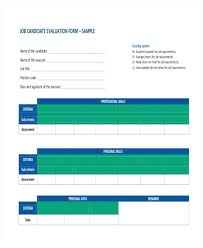 Employer Interview Evaluation Form Sheet Sample Doc – Bonniemacleod