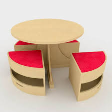 childrens circular table and chair set by sensory