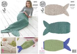 Mermaid Tail Blanket Knitting Pattern Amazing King Cole 48 Knitting Pattern Mermaid Tail Blankets To Knit In
