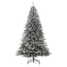 Brilliant Ideas Sears Pre Lit Christmas Trees Jaclyn Smith 7 Colorado  Flocked Pine Tree Kmart