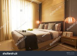 Japanese Style Bedroom Luxury Modern Japanese Style Bedroom Stock Photo 133732082