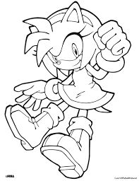 Small Picture Sonic Amy Coloring Pages Coloring Coloring Pages