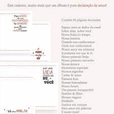Caderno Declaração de Amor Dia dos Namorados no Elo7 | Melffê Craffts Store  (C54A04)