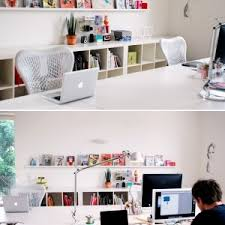 funky office decor. White-contemporary-office-scheme-Funky Workspaces Funky Office Decor