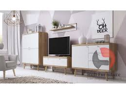 promo living room furniture riviera oak white scandinavian style