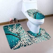 set bathroom non slip mat flannel pedestal rug toilet cover bath abstraction printing baby ikea