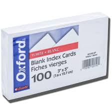 Index Card 3x5 Tops 3x5 Index Cards White University Book Store