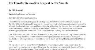 Bunch Ideas Of 6 Relocation Letter Epic Job Transfer Request ...