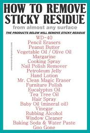 how to remove sticky residue