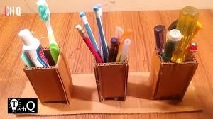 Cardboard Pencil Holder || DIY. Tech Q