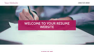 Personal Resume Website Resume Website Templates GoDaddy 81