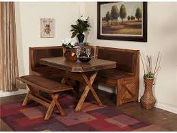 ... Dining Tables, Excellent Brown Rectangle Rustic Wooden Corner Dining  Room Table Stained Ideas: Breathtaking ...