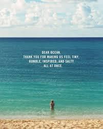 Dear Ocean Thank You Travel Quotes Sprüche Zitate Sprüche