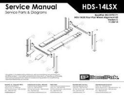 bendpak service manuals parts and diagrams four post car lifts