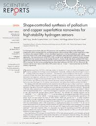 pdf shape controlled synthesis of palladium and copper superlattice nanowires for high ility hydrogen sensors