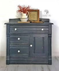 gray distressed furniture. Coastal Blue And Seagull Gray Distressed Cabinet On Furniture