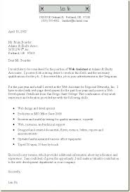 Free Examples Of A Cover Letter For Job Application