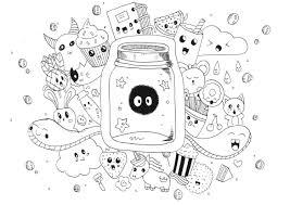 Kawaii Doodle Rachel Doodles Coloriages Difficiles Pour