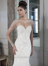 fit and flare wedding dress with sleeves. jaw-dropping fit and flare wedding gown with long illusion sleeves covered in sparkling hand dress r