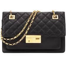 Michael Kors Gia Quilted-Top Flap Shoulder Bag - Polyvore & Michael Kors Gia Quilted-Top Flap Shoulder Bag Adamdwight.com