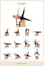 Malibu Pilates Chair Exercise Chart Exercise Posters Posters Cards Gifts Studio