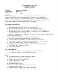 Customer Service Job Description For Resume Interesting Customer Service Manager Job Description Resume Duties Store Retail