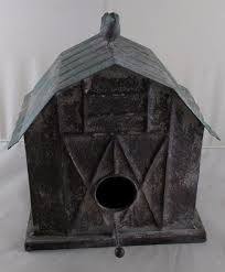 unique metal barn style birdhouse farm chic country rustic bird houses gift