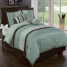 blue and brown bedroom set