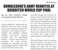 rita skeeter strikes again  an article written by jk rowling in the style