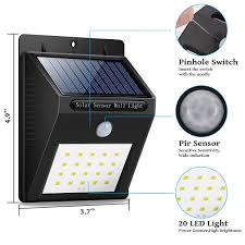 Solar Gate Lights Price In India Sensor Wall Light 20 Led Outdoor Waterproof Rechargeable Solar Power Pir Motion Garden Lamp