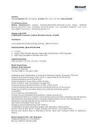 Sample Resume System Administrator Sarahepps Com