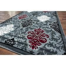 s h cherine modern gray area rug rugs