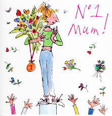 Mothers Greeting Card Quentin Blake No 1 Mum Mothers Day Greeting Card Cards
