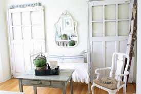 chic home office design home office. Shabby Decor Home Office Shabby-chic Style With Reclaimed Furniture Iron  Bed Wall Mirror Chic Design O