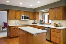 modern kitchen colors 2016. Oak Cabinet Kitchen Color Ideas With White Granite Island Countertops For Small Spaces The Unique Modern Colors 2016