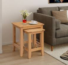 nesting tables oak effect for