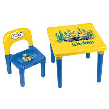 Plastic Table Chair Set Minions Kid039s Plastic Play Activity Table And Chair Set