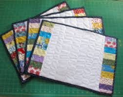 Quilted placemats   Etsy & Made to Order Shabby or Beach Chic Quilted Placemats Adamdwight.com